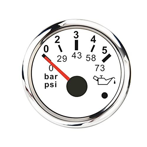 MINGMIN-DZ 기계식 오일 압력 게이지 0-10 바 0-145 PSI 오일 압력 게이지 0-5 BAR 0-73 트럭 보트 용 자동차 오일 프레스 미터 경보 오일 게이지 (색상 : WS 0-5BAR)