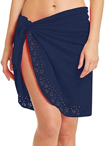 ChinFun Women s Silky Soft Beach Cover Up Luxury Nylon Spandex Sarong Dress Pareo Above Knee product image