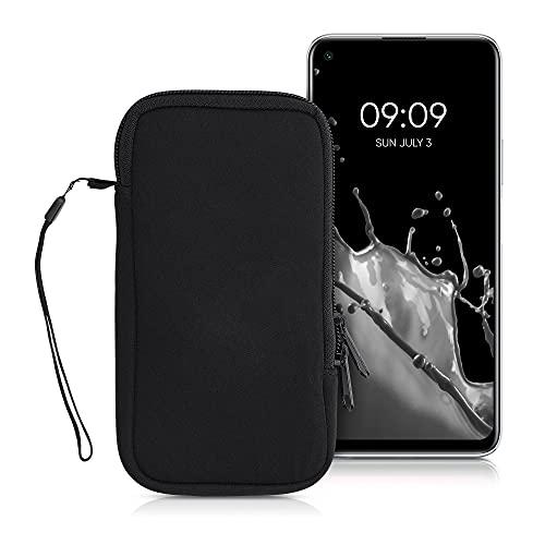 kwmobile Estuche de Neopreno Universal para Smartphone - Funda Protectora con Cremallera para XL - 6,7/6,8' Negro