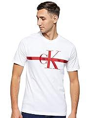 Calvin Klein Taping Through Monogram Reg tee Camisa para Hombre