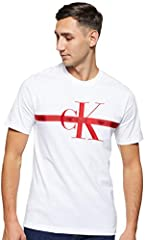 Calvin Klein Taping Through Monogram Reg tee Camisa para Hombre