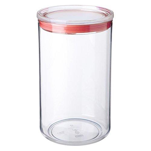 TATAY 1125309 - Bote de cocina transparente de poliestireno libre de BPA con cierre hermético, uso alimentario, óptimo para conservas, apto para lavavajillas, capacidad 2 litros, medidas 12.5