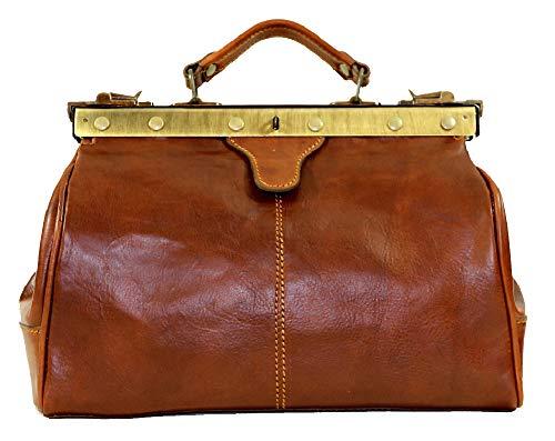 BZNA Firenze Bag Diego cognac Aktentasche Reisetasche Business Doktor Arzttasche Bag vegetable tanned Italy Designer Herren Handtasche Ledertasche Schultertasche Tasche Leder Neu