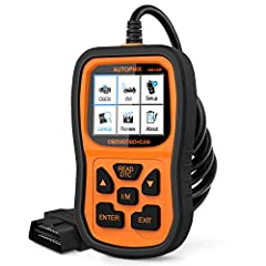 ➤【CHECKING CAR ENGINE TOOL】 The OM126P Enhanced OBDII scanner can read and erase the trouble codes that can cause emission problems in your vehicle in seconds, turn off the MIL (check your car engine) and reset the monitor, build a DTC lookup library...