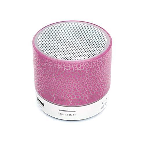Mirage Altavoz Bluetooth Wireless Mini Altavoz grieta Led USB TF subwoofer Bluetooth Altavoces estéreo MP3 Rosa Audio Reproductor de música (Color : Pink)