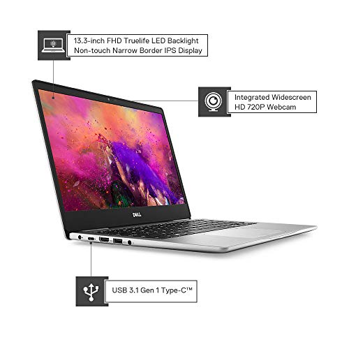 Dell Inspiron 7380-Clamshell 2018 13.3-inch Laptop (Core i7/8GB/512GB SSD/Windows 10/Integrated Graphics), Silver