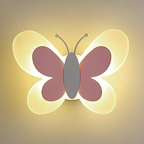 ICECON Butterfly Wall Light, Bedroom Decorations Night Light LED Projection Light Wall Lamp Silhouette Lights Animal Light for Bedroom Decoration