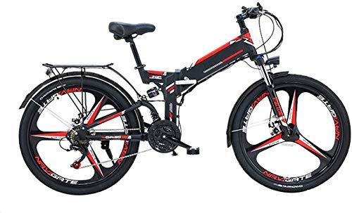Alta velocidad 24/26 '' Bici de montaña plegable eléctrico con extraíble 48V / 10AH de iones de litio de 300 vatios de motor de bicicleta eléctrica E-Bici 21 de velocidad de engranajes y modos de trab