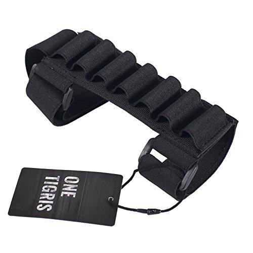 OneTigris 1000D cartucciera tattica per fucili Shell Holder Pouch, portacartucce per fucile, 7 scomparti, nero