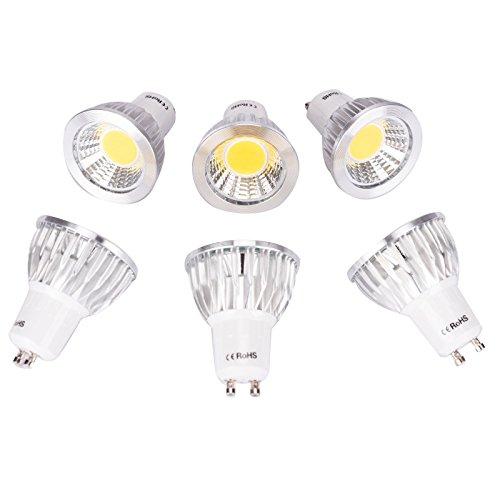 6er GU10 7W LED Leuchtmittel Nicht dimmbar Scheinwerfer Ersatz 70W Halogenlampe 120 Abstrahlwinkel Energiesparende Beleuchtung Deckenleuchte, 3000k Warmweiß