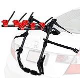 Venzo 3 Bike Rack for Car SUV Universal Carrier - Bicycle Trunk Mount Rear Racks -Sedan, Hatchback, Small SUV