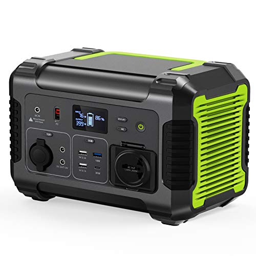 PAXCESS Rockman 500W Portable Power Station, 519Wh Backup Lithium Battery Solar Generator with 110V Pure Sine Wave AC Outlet, 12V Regulated DC, QC 3.0 USB-C PD Port, for Outdoors CPAP Camping