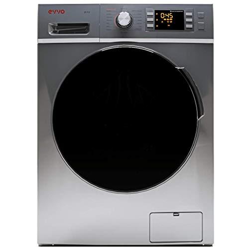 EVVO 3.9DX - Modelo 3.9DX Lavadora de carga frontal de 9 KG y 1400 RPM [Eficiencia Energética: A+++ (-10)] - Marca Española - 4 años de Garantía - Color inox