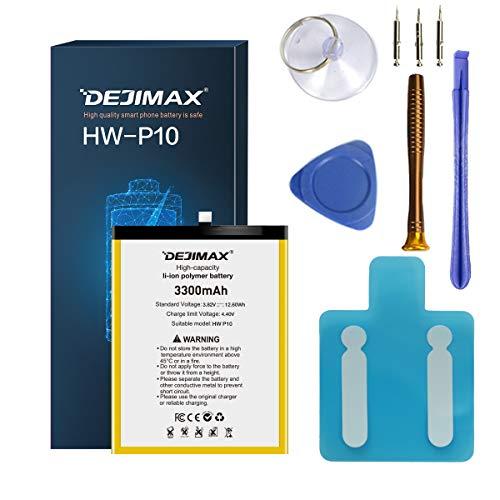 DEJIMAX Alta capacità 3300mAh Batteria per Huawei P10/Honor9, 3300mAh Batteria di ricambio agli ioni di litio ad alte prestazioni con strumenti e kit di riparazione