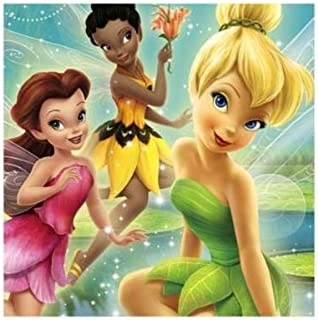 Disney's Tinker Bell and Fairies Lunch Napkins 16 Pack