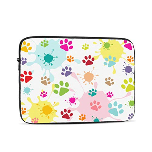 Macbook Air Cases Cat Paw Lovely Pet Run Jump Footprint Macbook Pro Covers Multi-Color & Size Choices10/12/13/15/17 Inch Computer Tablet Briefcase Carrying Bag