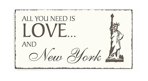 Targa « New York » Shaby Vintage Statua della Libertà