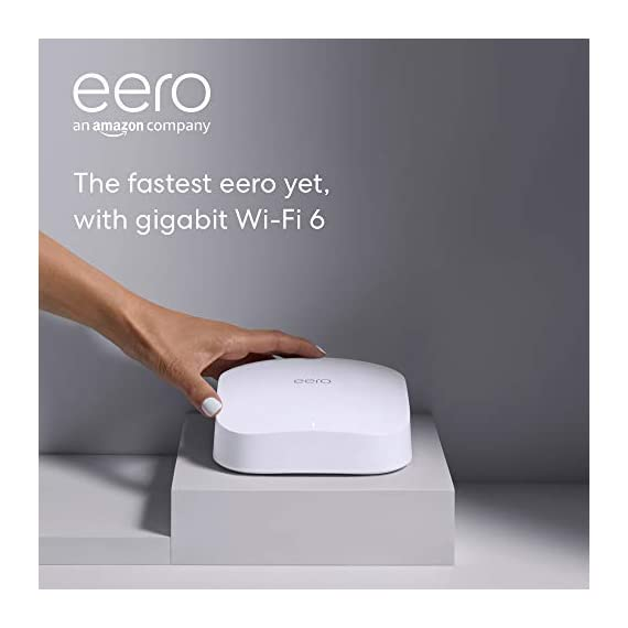 Introducing amazon eero pro 6 tri-band mesh wi-fi 6 router with built-in zigbee smart home hub 6 introducing the fastest eero ever - eero pro 6 covers up to 2,000 sq. Ft. With wifi speeds up to a gigabit. Say goodbye to dead spots and buffering - our truemesh technology intelligently routes traffic to reduce drop-offs so you can confidently stream 4k video, game, and video conference. More wifi for more devices - wi-fi 6 delivers faster wifi with support for 75+ devices simultaneously.