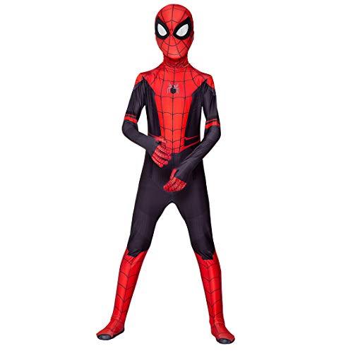 MODRYER El Hombre araña de Cosplay del Partido de Halloween del Mono del Mono Superhero Bodies Vestimenta película Complementos Disfraz,Far from Home-Kids/XXL140~150cm