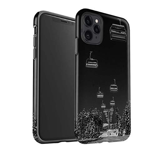 Matt Handy Hülle kompatibel mit Apple iPhone 11 Pro Skifahren/Snowboard Ski Aufzug Matte Stoßfeste Schutzhülle Robust Case Cover