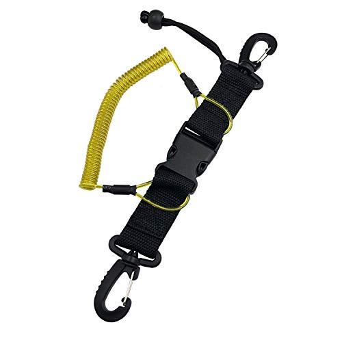 Fuwok XJS02 - Cordón en espiral para buceo, hebilla de liberación rápida, accesorios para cámara de fotografía submarina