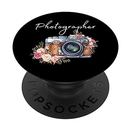 Fotógrafo, Cámara Vintage, Fotografía PopSockets PopGrip Intercambiable
