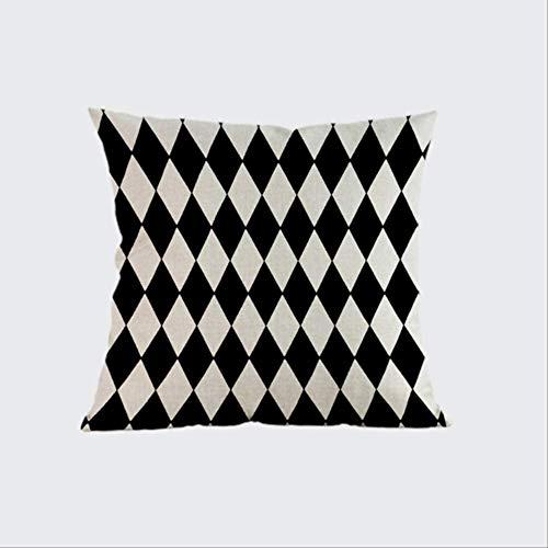 QIANGST Nordic Vintage Kissenbezug Bunte Plaid Geometrische Kissen für Sofa Autositz Wohnkultur Dekokissen 45x45 cm mit Füllung I
