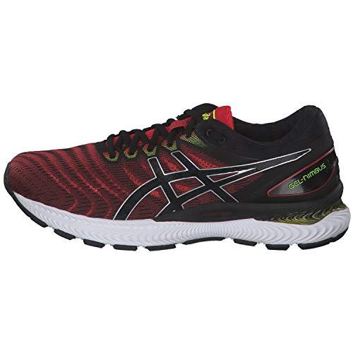 Asics Gel-Nimbus 22, Running Shoe Hombre, Clásico Rojo/Negro, 44.5 EU