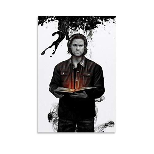 Ghychk Póster de Sam Winchester Supernatural de la serie de televisión de la temporada de Sam Winchester, decoración de pared para el hogar y la oficina, listo para colgar, 40 x 60 cm