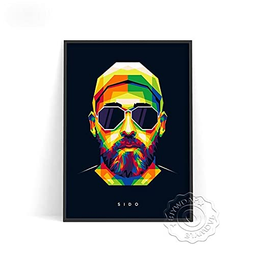 xmydeshoop Rapper Roddy RIcch Poster, JID Alligatoah Poster, Sido Kunstdrucke, The Weeknd Music Poster, The Kid Laroi Bar Pub Club Art Decor 40x50cm No Frame PE-1381
