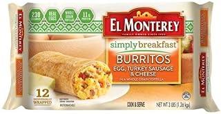 Evaxo Simply Breakfast Egg, Turkey Sausage, and Cheese Burrito, Authentic Mexican Recipe Frozen Breakfast Burrito, 1 pk. /...
