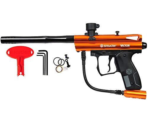 Spyder Victor Semi-Auto Paintball Marker with Extended Warranty (Polish Orange)