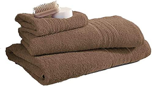Lujoso juego de toallas de baño, de algodón egipcio, muy absorbente, 70 x 120 cm (natural, 3)