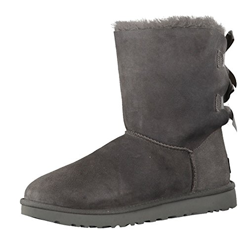 UGG Female Bailey Bow II Classic Boot, Grey, 7 (UK)