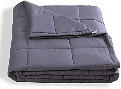 12lb 48 x 72 QueenKingHome Weighted Blanket 12 lbs for Adult Kids Teens 100/% Cotton Full Size Heavy Blanket with Glass Beads for Teenager 100 to 140 Pounds
