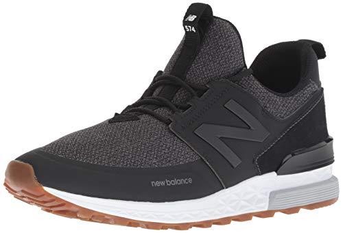New Balance Men's 574S Sport Sneaker, Black/Magnet, 10 D US