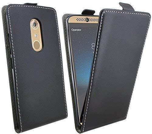 ENERGMiX Klapptasche Schutztasche für das ZTE AXON 7 Mini in Schwarz Tasche Hülle