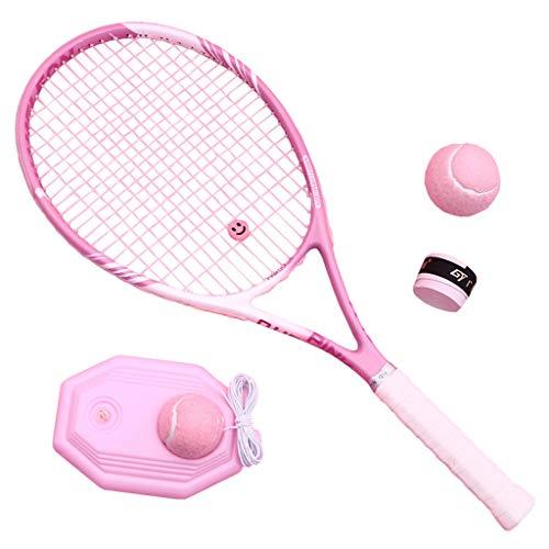 Tennisschläger Erwachsene Kinder Männer Und Frauen Anfänger Carbon Universal Single Suit (Color : Pink, Size : 69cm/27 inches)
