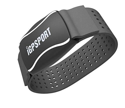 iGPSPORT HR60 (Versión Española) - Monitor de Frecuencia Cardiaca Foto-Eléctrico, Batería Litio Recargable, Bluetooth y Ant, Ciclismo,Running,Gimnasia,aeróbica. Resistencia IPX7 - Negro