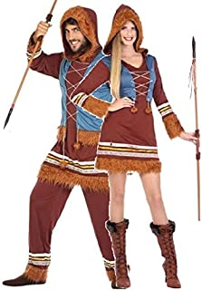 Couples Ladies and Mens Eskimo Explorer Carnival Fancy Dress Costumes Outfits