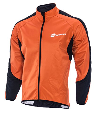 Windproof Jacket Cycling Man Fleece Liner Bicycle Clothing Top XL Size Lava