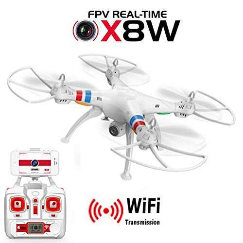 XuBa X8W FPV RC Quadcopter Drone with WiFi Camera 2.4G 6Axis Dron X8C 2MP Camera RTF RC Helicopter with Camera VS X8HW Black