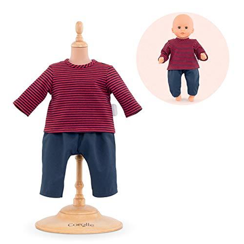 Corolle- Matrosen- und Hose für Puppen 30 cm Kleidung, 110390, Blau