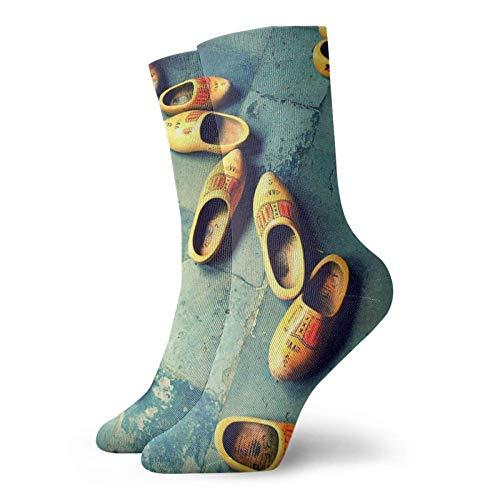Zapatillas de madera en Holanda Calcetines clásico confort Atlético Casual Calcetines 30cm/11.8inch para Unisex wen y mujeres