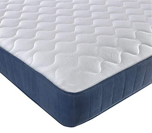 Starlight Beds Cool Breeze Open Coil Sprung Mattress 9 Layer Construction 9 Inch Deep Spring & Cool Blue Memory Foam Mattress, 3ft Single Mattress 90cm x 190cm