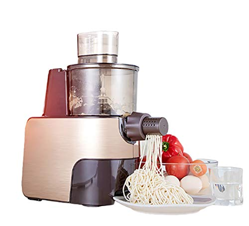 Volautomatische pastamachine Thuis kleine elektrische Intelligent Multi-Function Vertical Noodle Maker Machine Dumpling Skin Dough persmachine,Brown