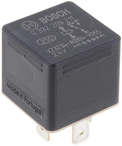 Bosch 0332209211 Mini relé de 24V 20A, IP5K4, temperatura de funcionamiento de -40° a 85°C, relé de 5 pines