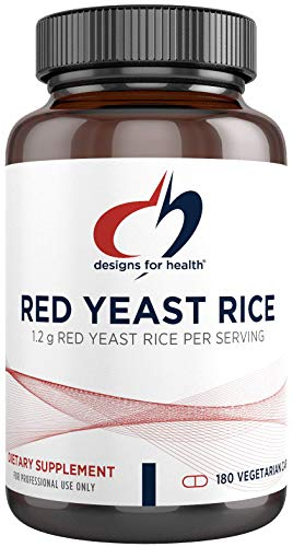 Designs for Health Organic Red Yeast Rice 1200mg Capsules - Certified Organic RYR + Citrinin-Free (180 Capsules)