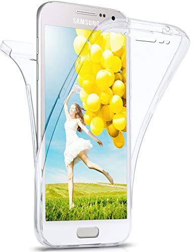 MoEx Cover Fronte-Retro in Silicone Compatibile con Samsung Galaxy A3 (2015) | Trasparente, Trasparente