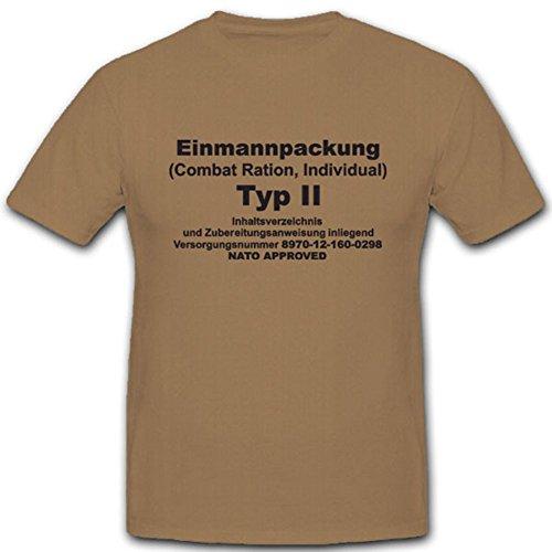 EPA Einmannpack type 2 Bundeswehr militair voedsel eten - T-shirt #4976